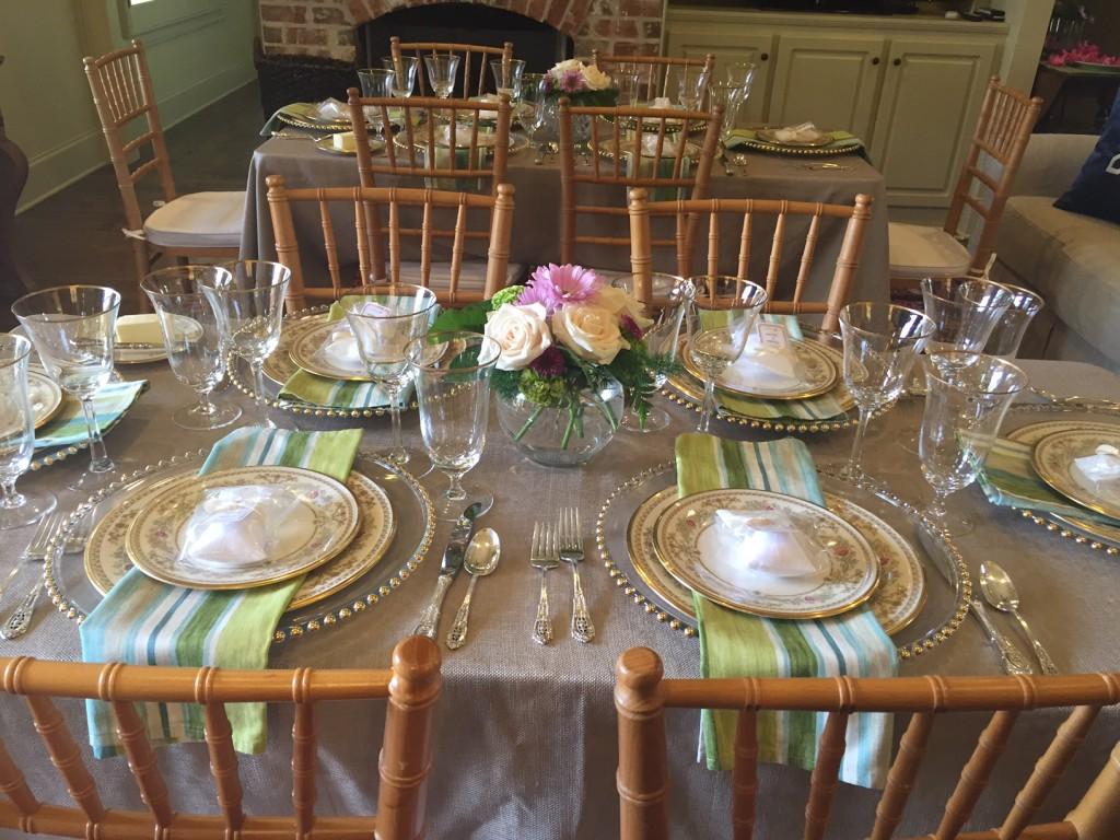 Bridal Luncheon Table Settings Gina Diamond S Flower Co