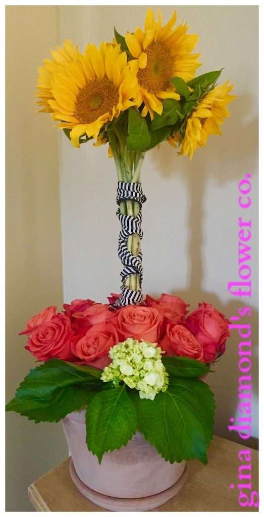 Tutorial: Sunflower Topiary – Gina Diamond\'s Flower Co.
